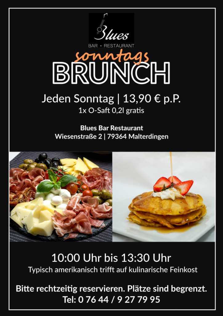 Sonntags Brunch Blues Bar Restaurant Malterdingen